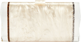 Edie Parker Lara Ice Ends Box Clutch Blush/Nude 1SIZE