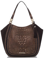 Brahmin Palermo Collection Thelma Tasseled Whip-Stitched Crocodile-Embossed Tote