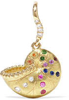 Aurelie Bidermann Nautilus Keeper 18-karat Gold Multi-stone Earring