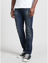 Edwin Ed-55 Relaxed Tapered Jeans, Deep Blue Denim Grime Dirt Wash