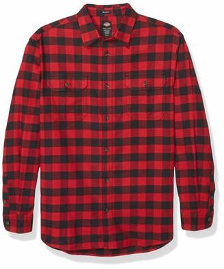 Dickies Men's Big and Tall Long Sleeve Flex Flannel Shirt