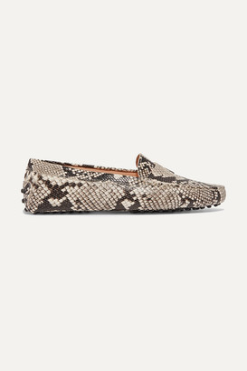 Tod's Gommino Snake-effect Leather Loafers - Snake print