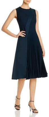 BOSS Dionia Sleeveless Pleated Paneled Dress