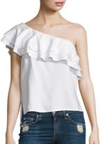 Bella Dahl One Shoulder Ruffle Top