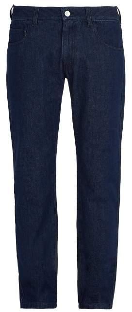Raf Simons Regular Fit Straight Leg Jeans - Mens - Dark Navy