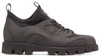 Valentino Tank Contoured Rubber And Neoprene Boots - Mens - Black