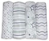 Swaddle Designs Muslin Swaddle Blankets 4pk - Sterling Starshine Shimmer