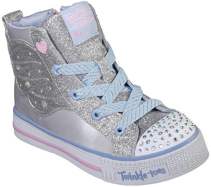 f0d564f30b2d Girls Lace Up Silver Shoes - ShopStyle