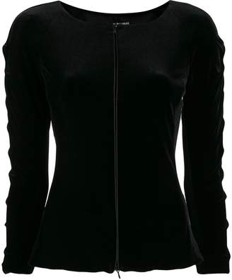 Emporio Armani fitted boat neck jacket