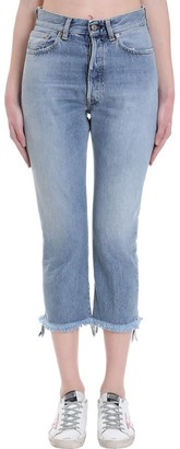 Golden Goose Texas Jeans In Cyan Denim