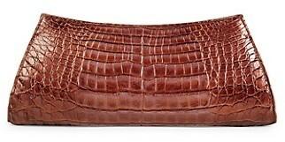 Nancy Gonzalez Crocodile Leather Clutch