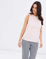Dorothy Perkins Sleeveless Broderie Shell Top