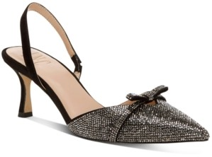 INC International Concepts Inc Women's Gelsey Slingback Kitten-Heel Pumps, Created for Macy's Women's Shoes