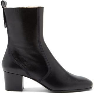 Chloé Goldee Block-heel Leather Boots - Black
