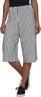 Urban Classics Women's Stripe Pleated Culotte Sports Pants