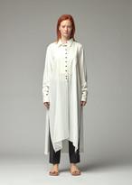 Ann Demeulemeester Women's Long Shirt in Ecru Size 38