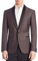 Pal Zileri Berry Vector Jacquard Silk Jacket