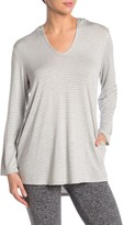 Splendid Striped Cover-Up Tunic Hoodie