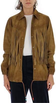 Golden Goose Fringed Drawstring Waist Jacket