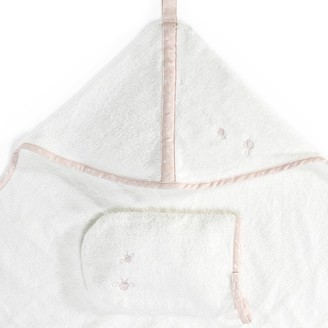 Stokke Hooded Organic Cotton Towel Coral Bee