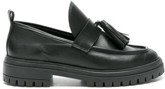 Nk Leather Platform Slippers