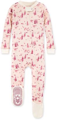 Burt's Bees Bear Organic Baby Zip Front Snug Fit Footed Pajamas