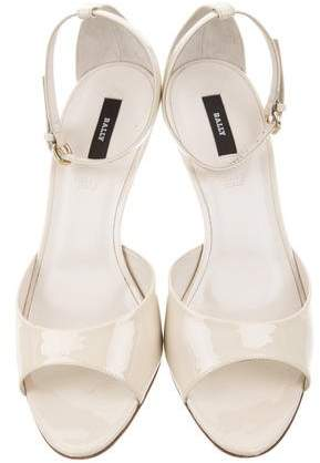 Bally Patent Leather Ankle-Strap Sandals