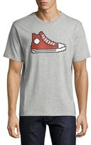 Mostly Heard Rarely Seen 8-Bit Sneaker Graphic T-Shirt, Gray