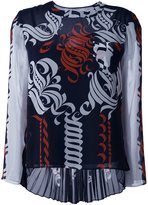 Sacai calligraphy print blouse
