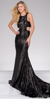 Jovani Sequin Side Cut Outs Prom Dress