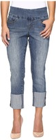 Jag Jeans Petite Petite Lewis Straight Cuffed Comfort Denim in Weathered Blue