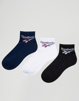 Reebok Classics 3 Pack Vintage Logo Socks In Multi