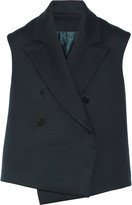 Helmut Lang Double-faced cotton and wool-blend twill vest
