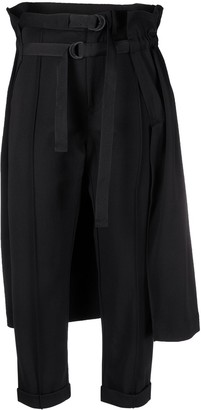 Y-3 Belted Overlay-Skirt Trousers