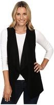 Calvin Klein Vest w/ Suede Drape