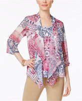 JM Collection Layered-Look Chiffon Top, Only at Macy's