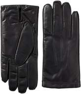 Isotoner Men's Smartouch Smooth Leather with Center Palm Vent
