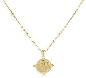 Adina's Jewels Adinas Jewels Beaded Coin Pendant Necklace, 14