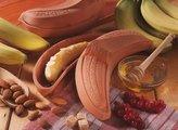 Romertopf Banana Roaster, for Bananas and Fruit, Roasting Pan / Dish, Natural Clay, L 24 cm, 10405