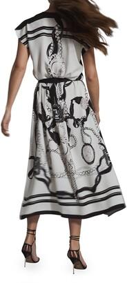Reiss Heidi Mixed Print Dress