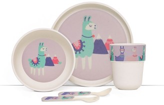 Penny Scallan Loopy Llama Bamboo Kids Meal Set with Cutlery