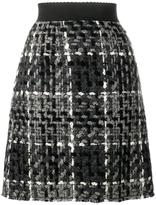 Dolce & Gabbana mini flounce skirt - women - Silk/Cotton/Acrylic/Wool - 48