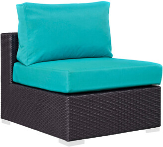 Modway Outdoor Modway Convene Outdoor Patio Wicker Rattan Armless Sofa