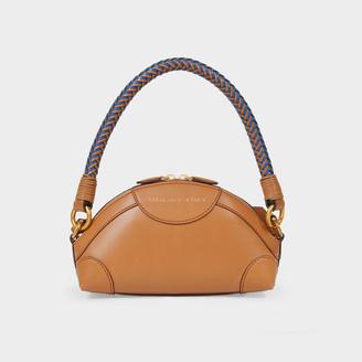 Stella McCartney Handbag Mini Crossbody Textured Eco Al In Camel Synthetic Leather