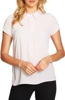 CeCe Women's Cap Sleeve Collared Top