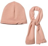 Chloé Rose Pink Knitted Hat and Scarf Set