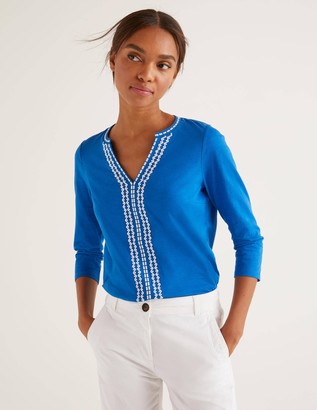 Peggy Jersey Embroidered Top