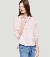LOFT Lou & Grey Cropped Button Down Shirt