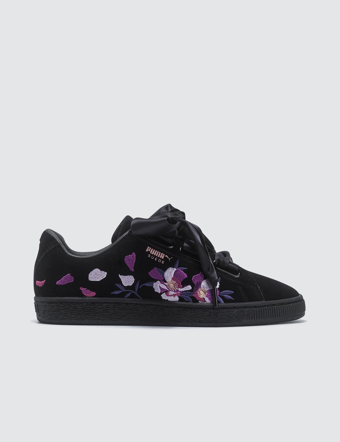 detailed look 882ca 4a32c Suede Heart Flowery Wn's
