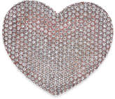Joan Boyce Rose Gold-Tone Pave Heart Pin